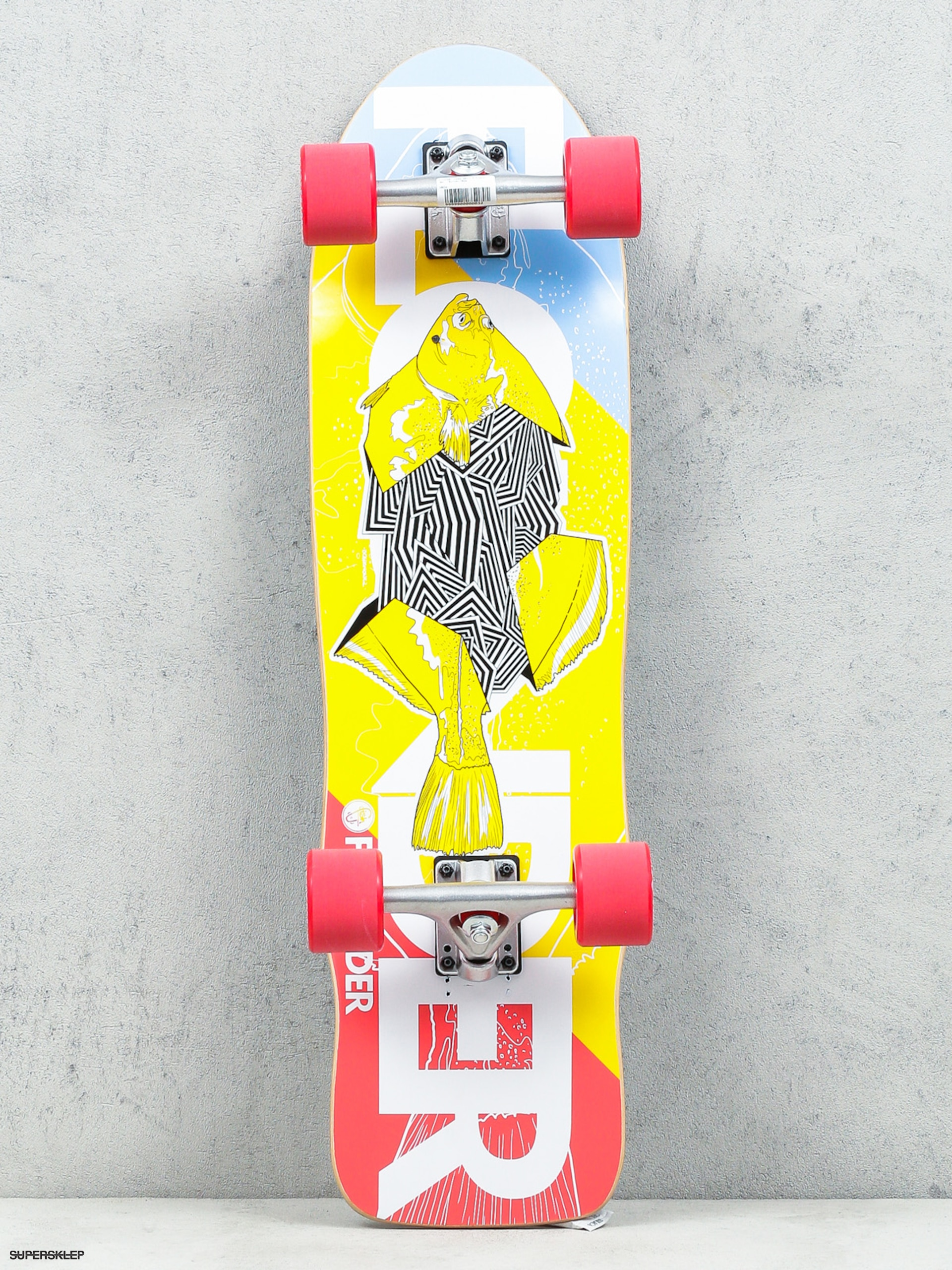 Fish Skateboards Cruiser Flounder (silver/red)