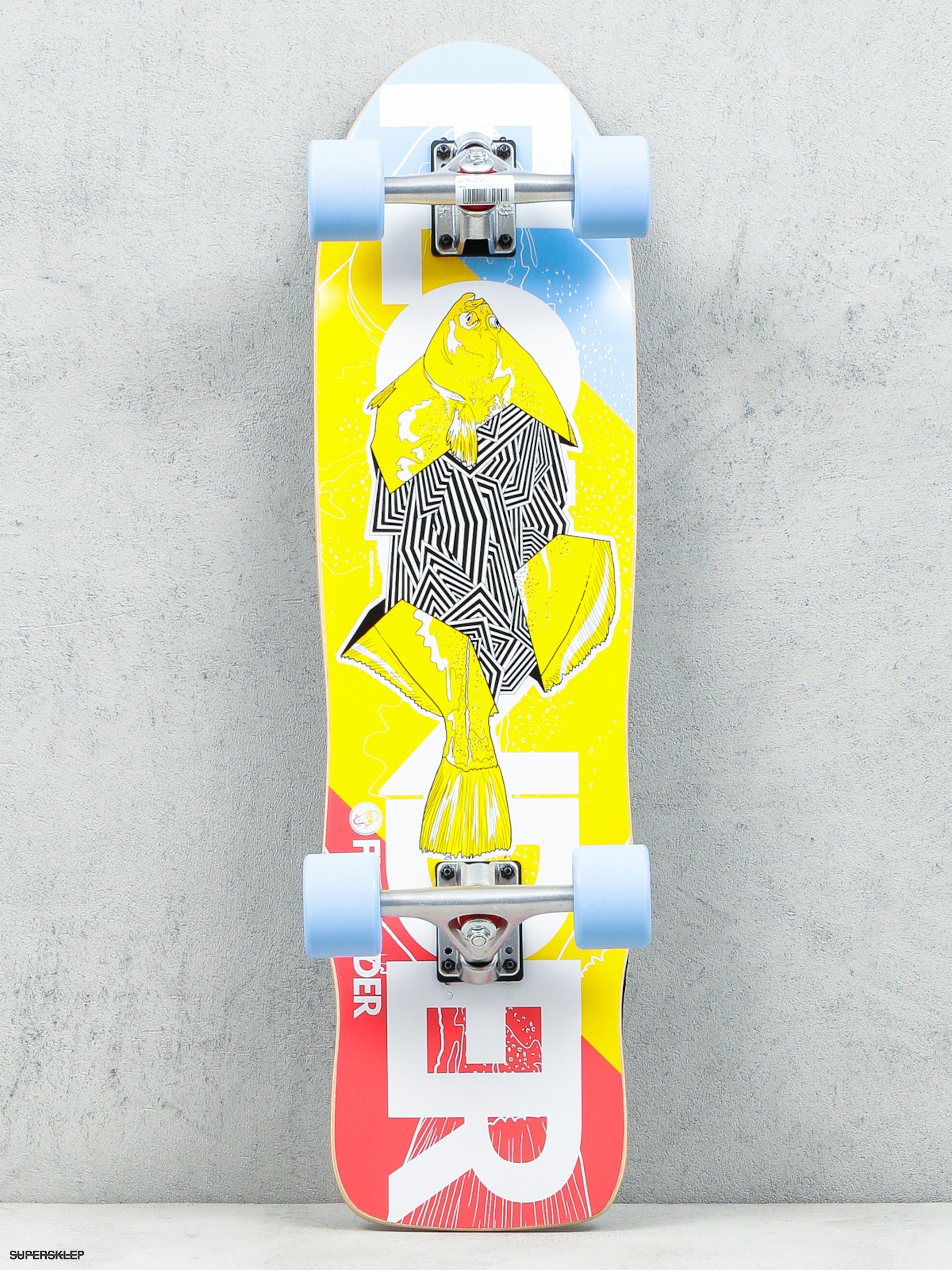 Fish Skateboards Cruiser Flounder (silver/blue)