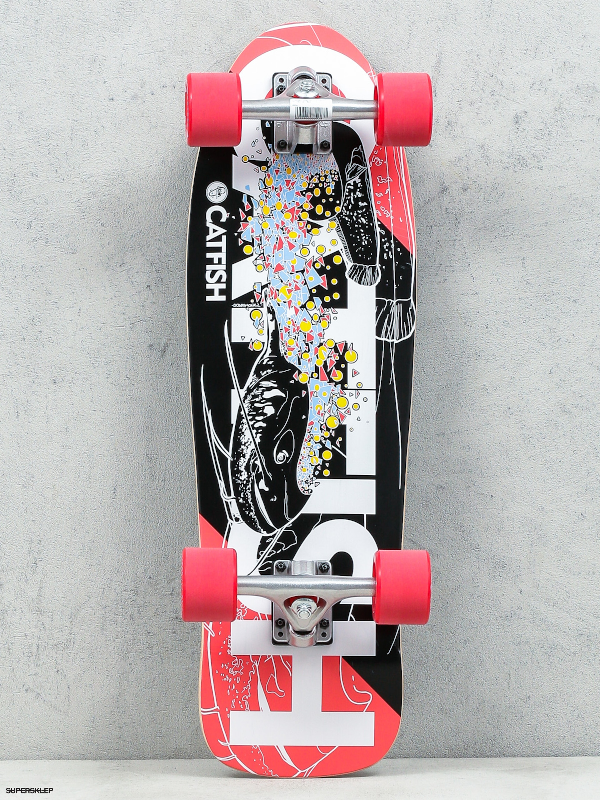 Fish Skateboards Cruiser Catfish (silver/red)