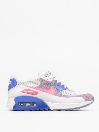 Topu00e1nky Nike Air Max 90 Wmn (Ultra 2.0 Flyknit white/racer pink medium blue)