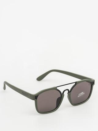 Slneu010dnu00e9 okuliare Majesty Wire (matt army green/black pearl lens)