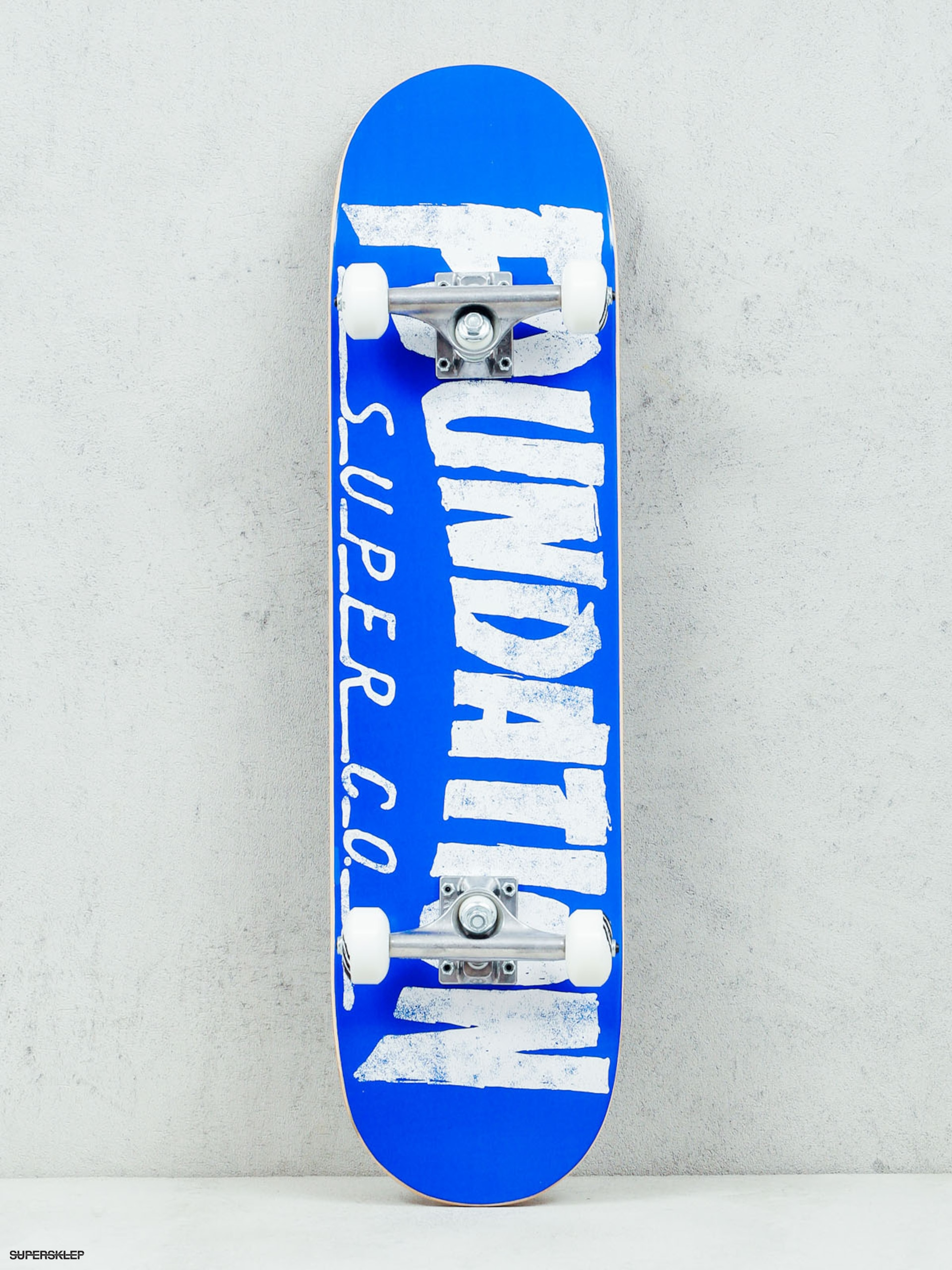 Skateboard Foundation Thrasher (blue/white)