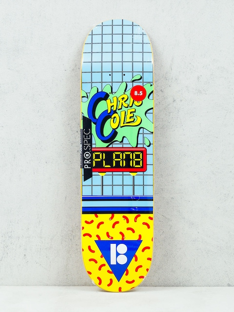 Doska Plan B Cole Dare (blue/green/yellow)