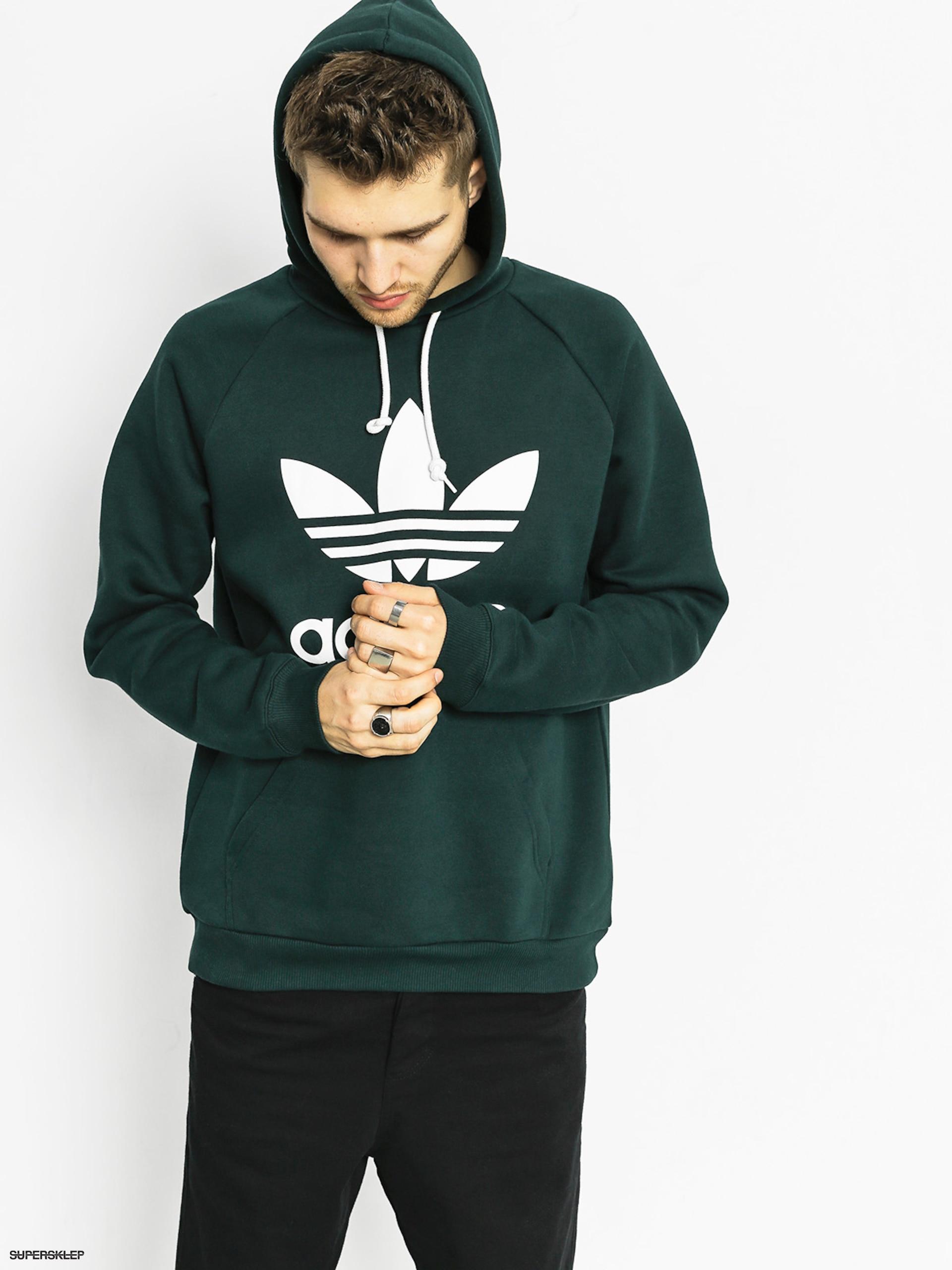Mikina s kapucňou adidas Trefoil HD (green night f17) f1db838f258
