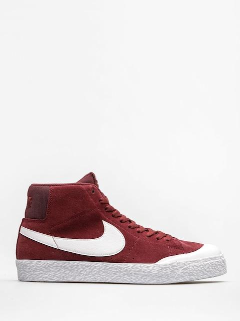 Topánky Nike SB Zoom Blazer Mid Xt (dark team red/white gum light brown)