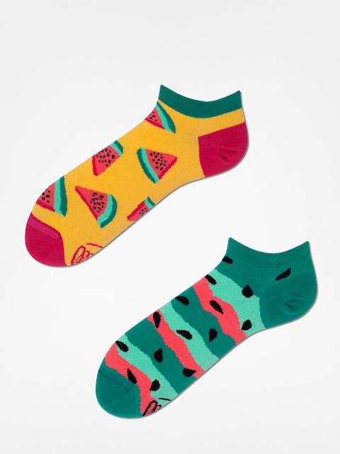 Ponožky Many Mornings Watermelon Splash Low (yellow/green)