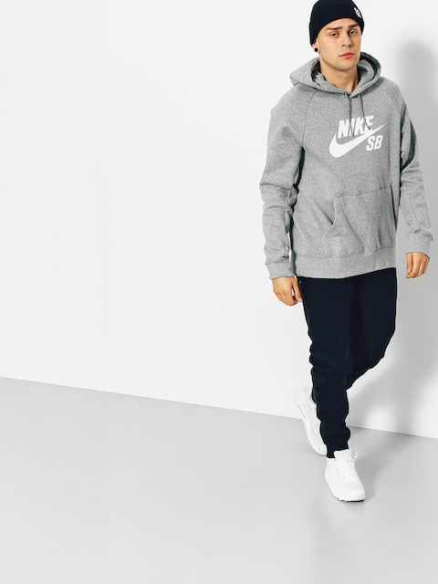 Mikina s kapucňou Nike SB Icon HD (grey heather)