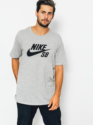 Tričko Nike SB Logo (dk grey heather/black)