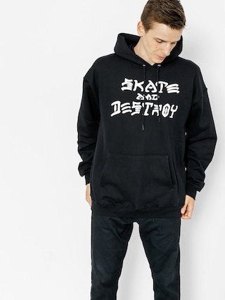 Mikina s kapucňou Thrasher Skate And Destroy HD (black)