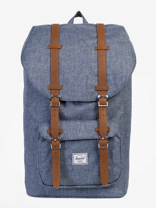 Batoh Herschel Supply Co. Little America (dark chambray crosshatch/tan synthetic leather)