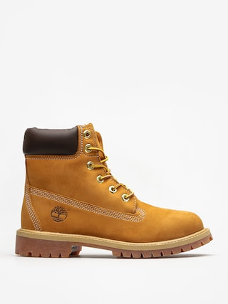 Topu00e1nky Timberland 6 In Premium Jr (wheat nubuc yellow)