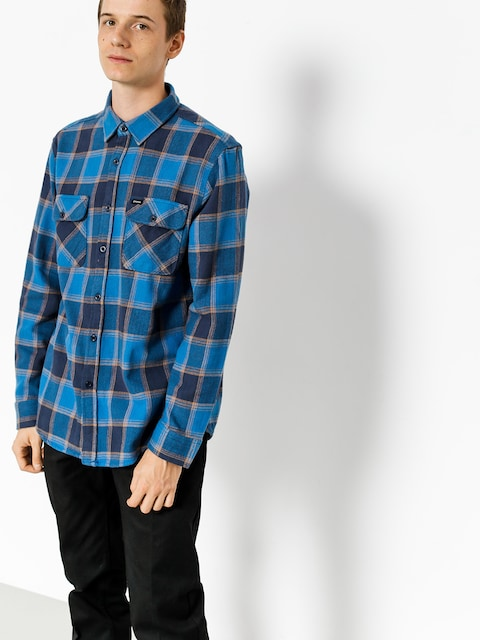 Košeľa Brixton Bowery Flannel Ls (blue/navy)