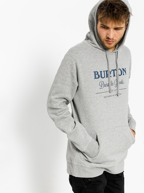 Mikina s kapucňou Burton Durable Goods HD (gray heather)