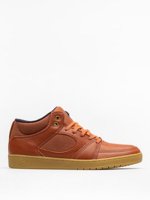Topánky Es Accel Slim Mid (brown/gum/gold)