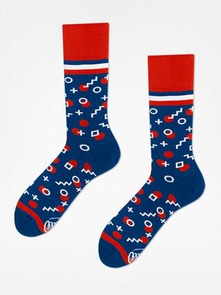 Ponožky Many Mornings Retro Dots (navy/orange)