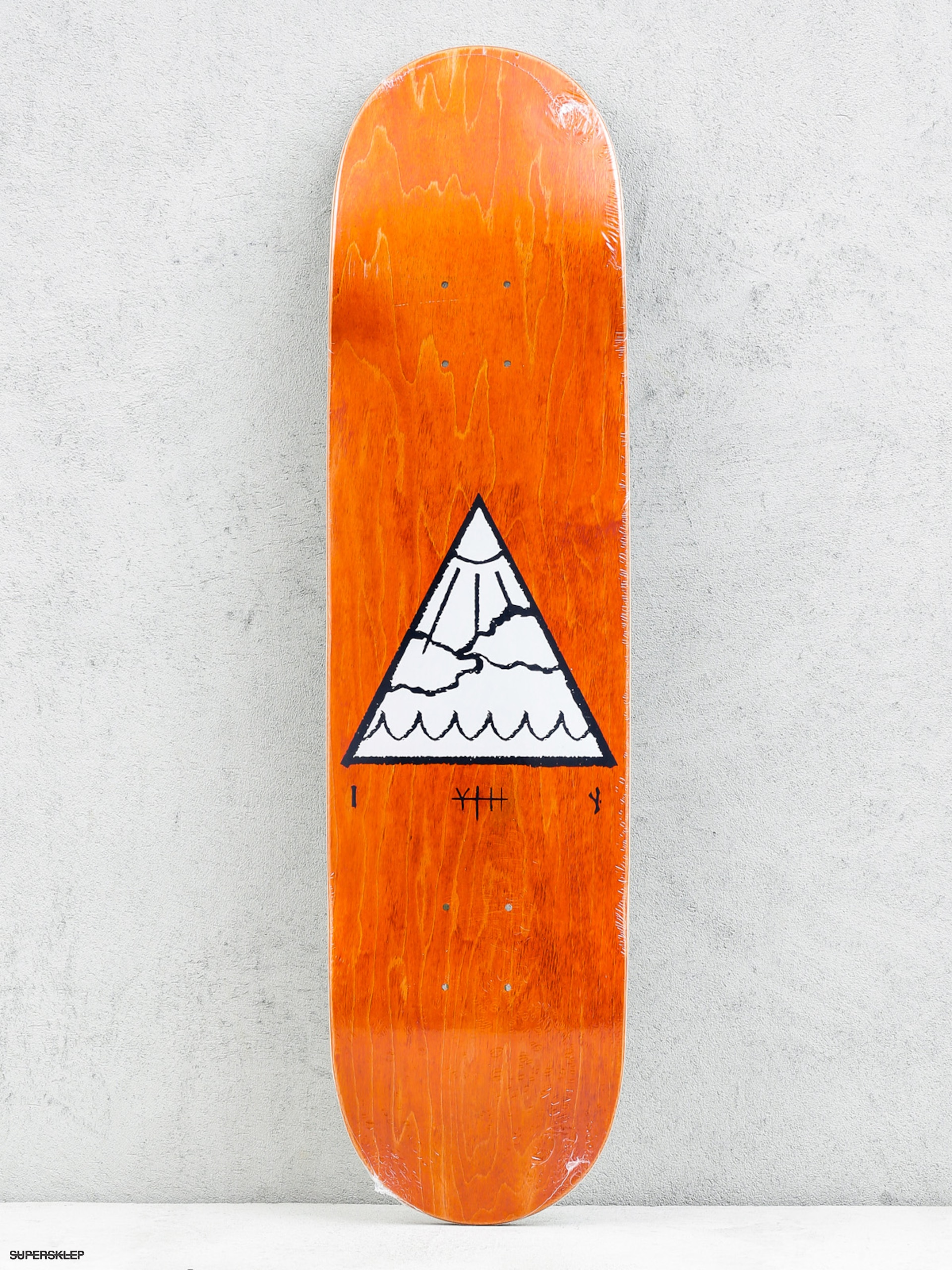 Doska Youth Skateboards Triangle Logo (orange/white)