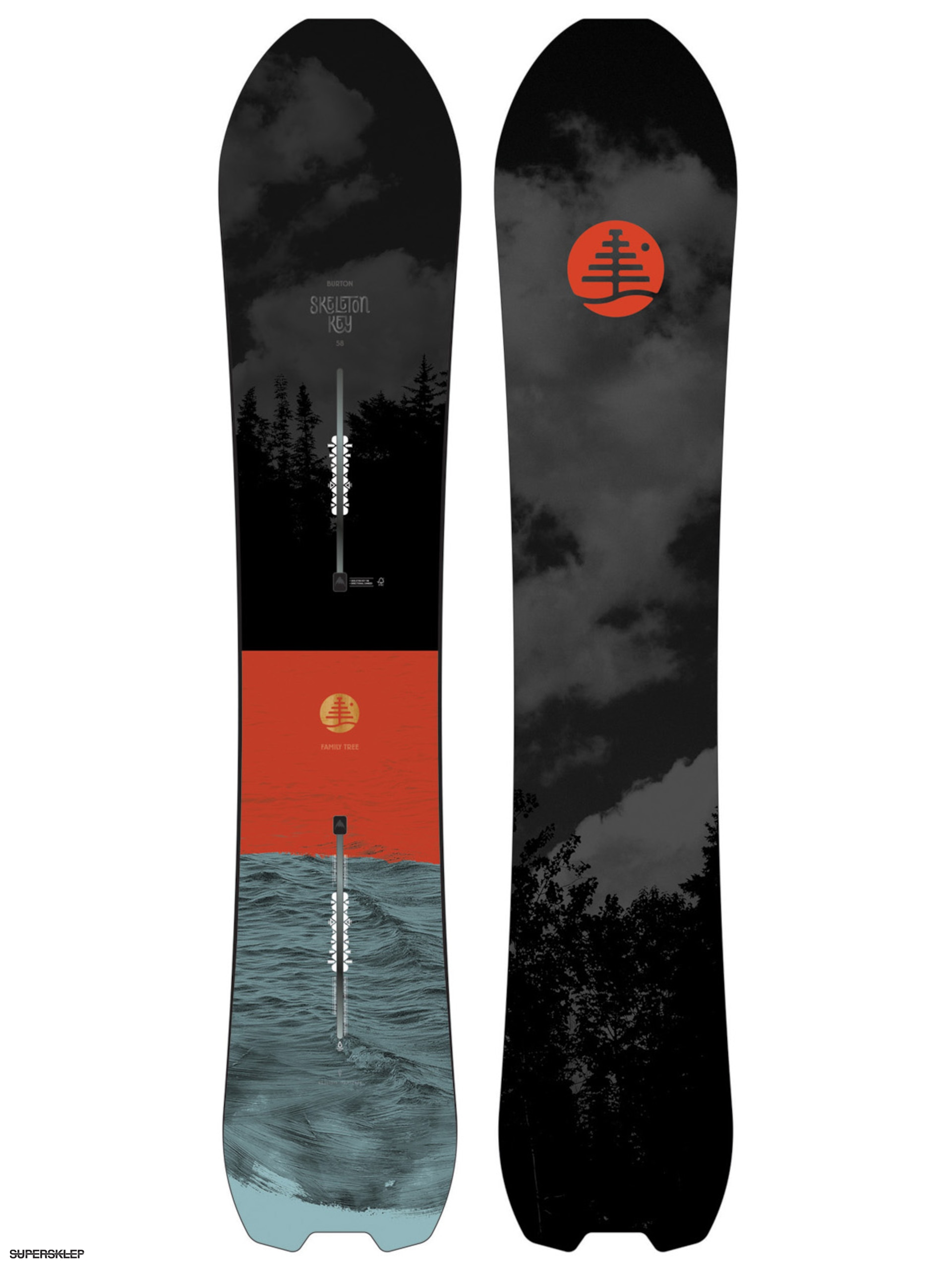 Snowboard Burton Family Tree Skeleton Key