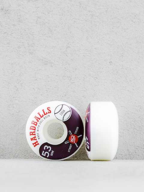 Kolieska Mob Skateboards Hardballs (white/maroon)