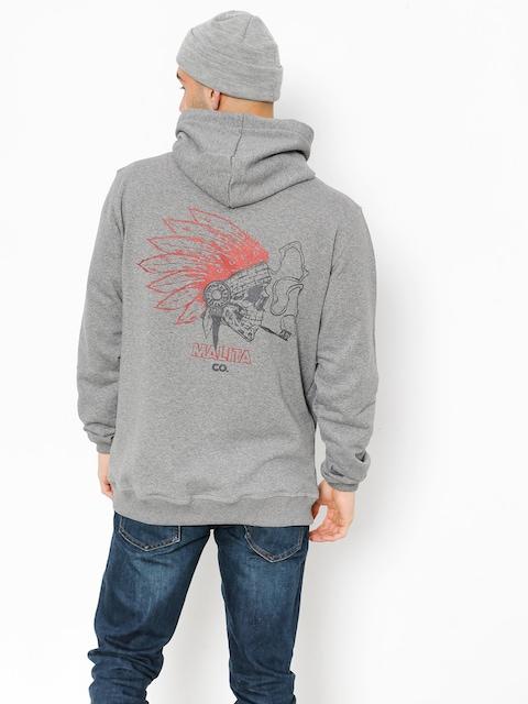 Mikina s kapucňou Malita Navaho HD (heathre grey)