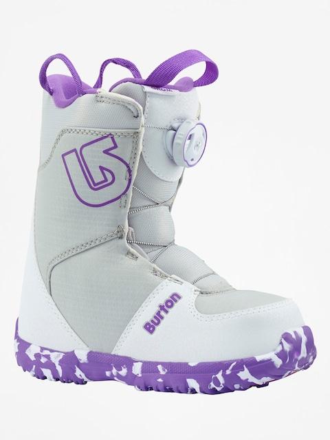 Obuv na snowboard Burton Grom Boa (white/purple)
