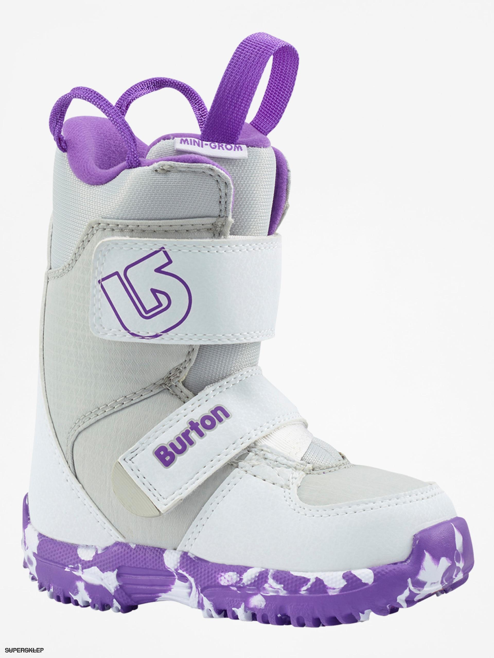 Obuv na snowboard Burton Mini Grom (white purple) 153c18c83aa
