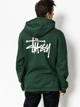 Mikina s kapucu0148ou Stussy Basic HD (dark forest)