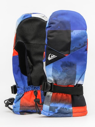 Quiksilver Rukavice Mission Mitt (blue red icey check)