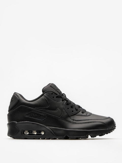 Nike Topánky Air Max 90 Leather Gs (black/black)
