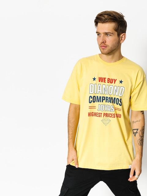 Tričko Diamond Supply Co. Jewelers Row (banana)