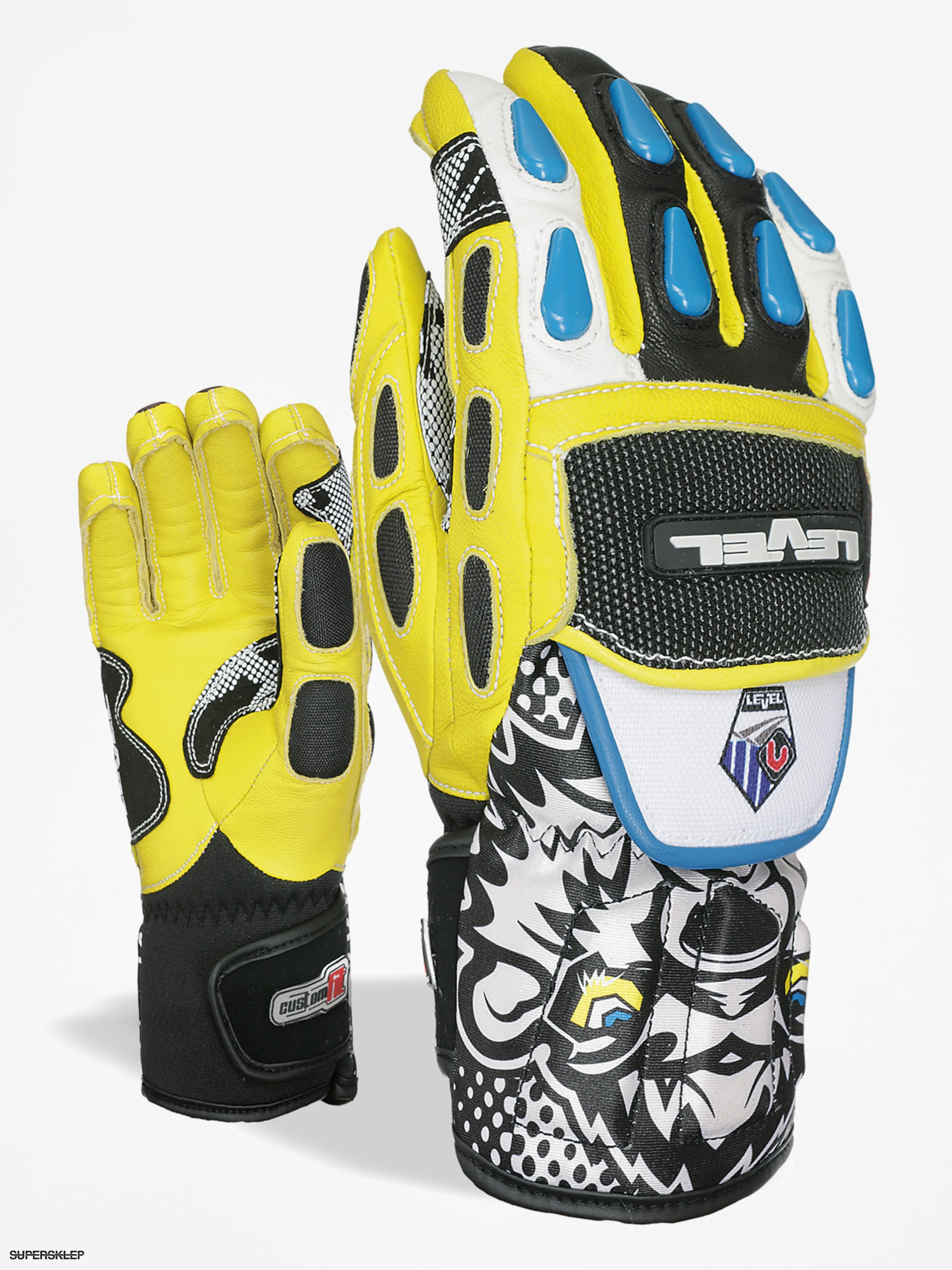Rukavice Level Worldcup Jr Cf (black yellow)