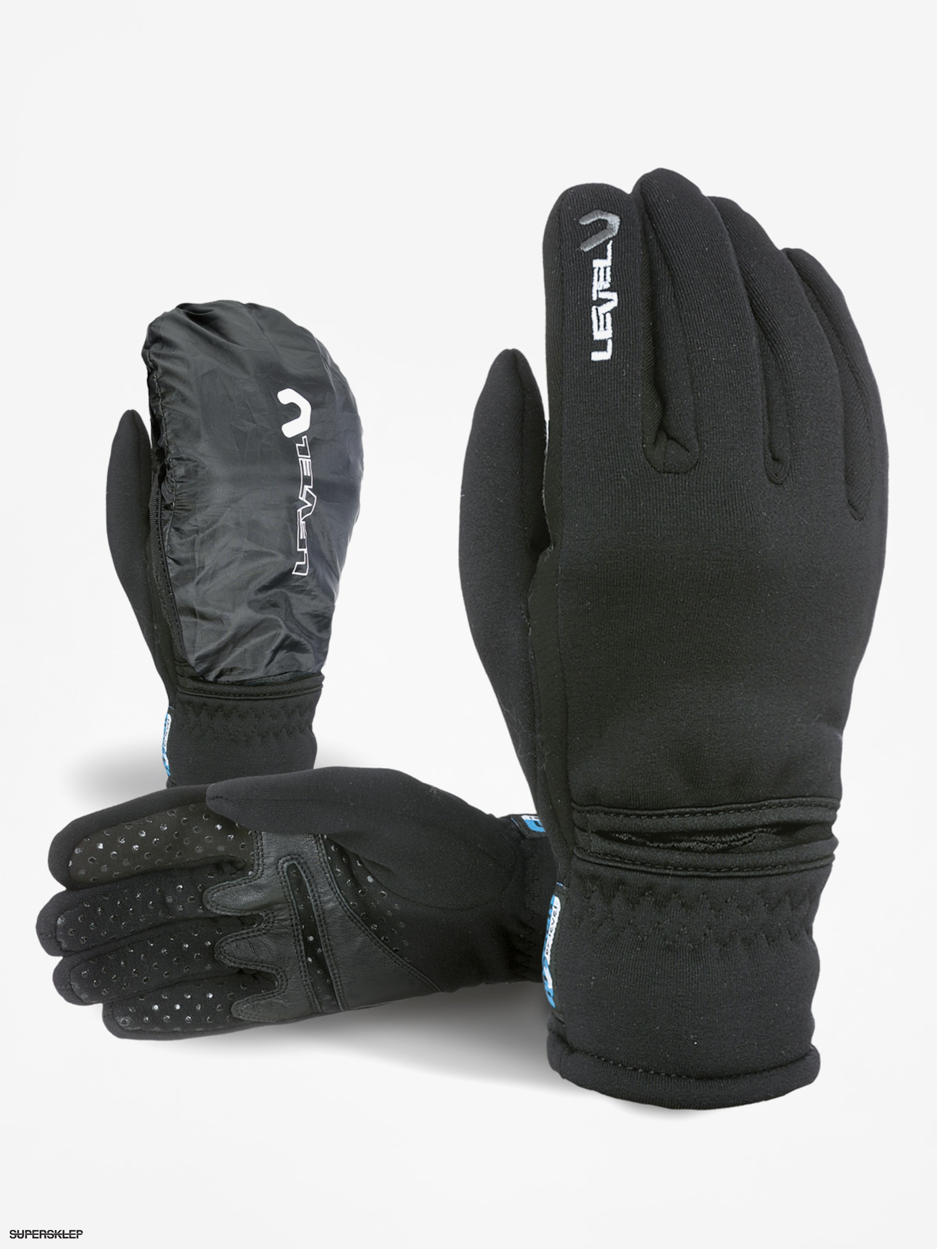 Level Rukavice Trail Polartec I touch (black)