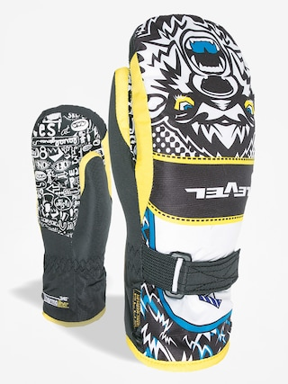 Rukavice Level Junior Mitt (black/yellow)