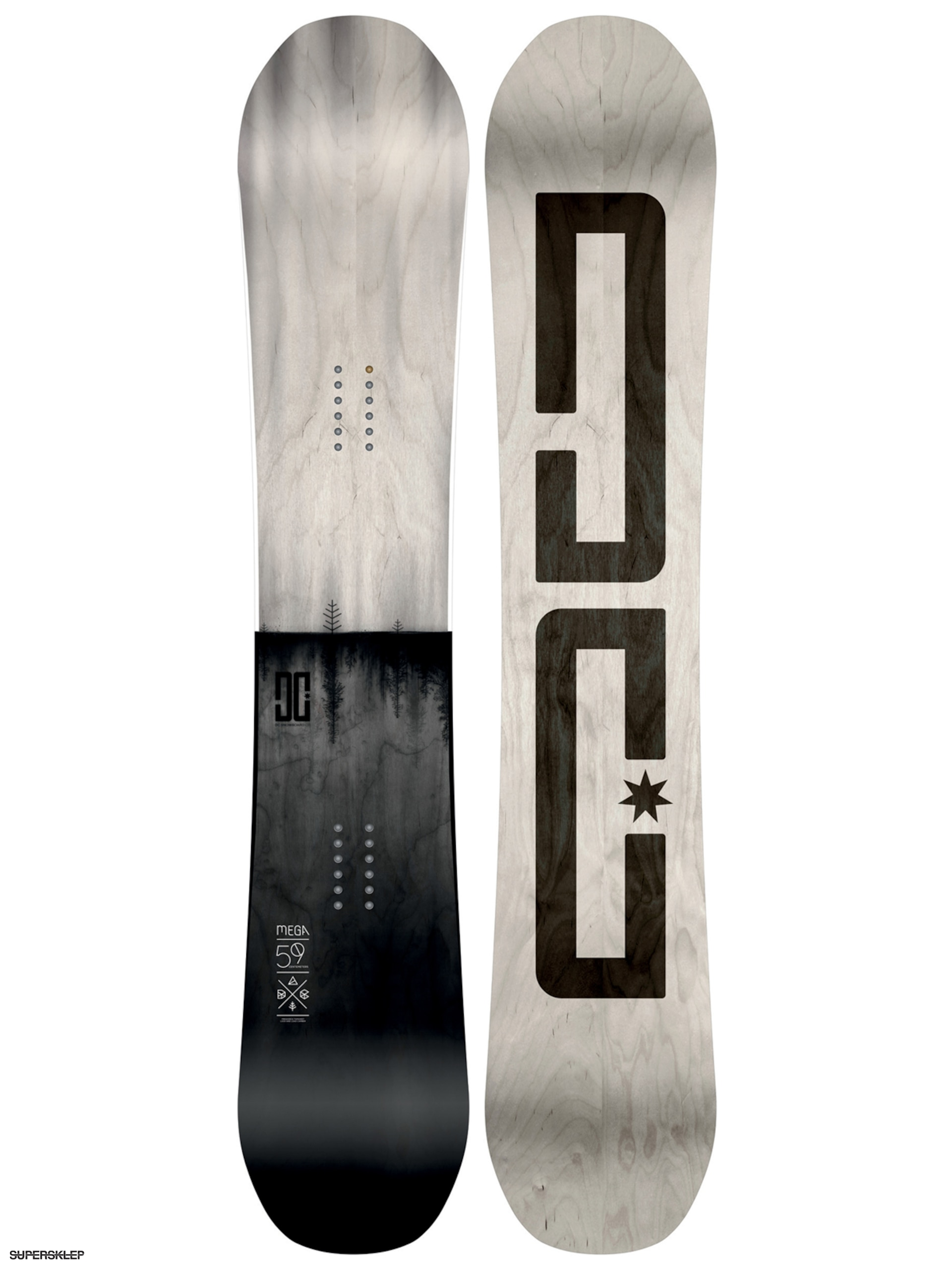 Snowboard DC Mega (light grey/black)