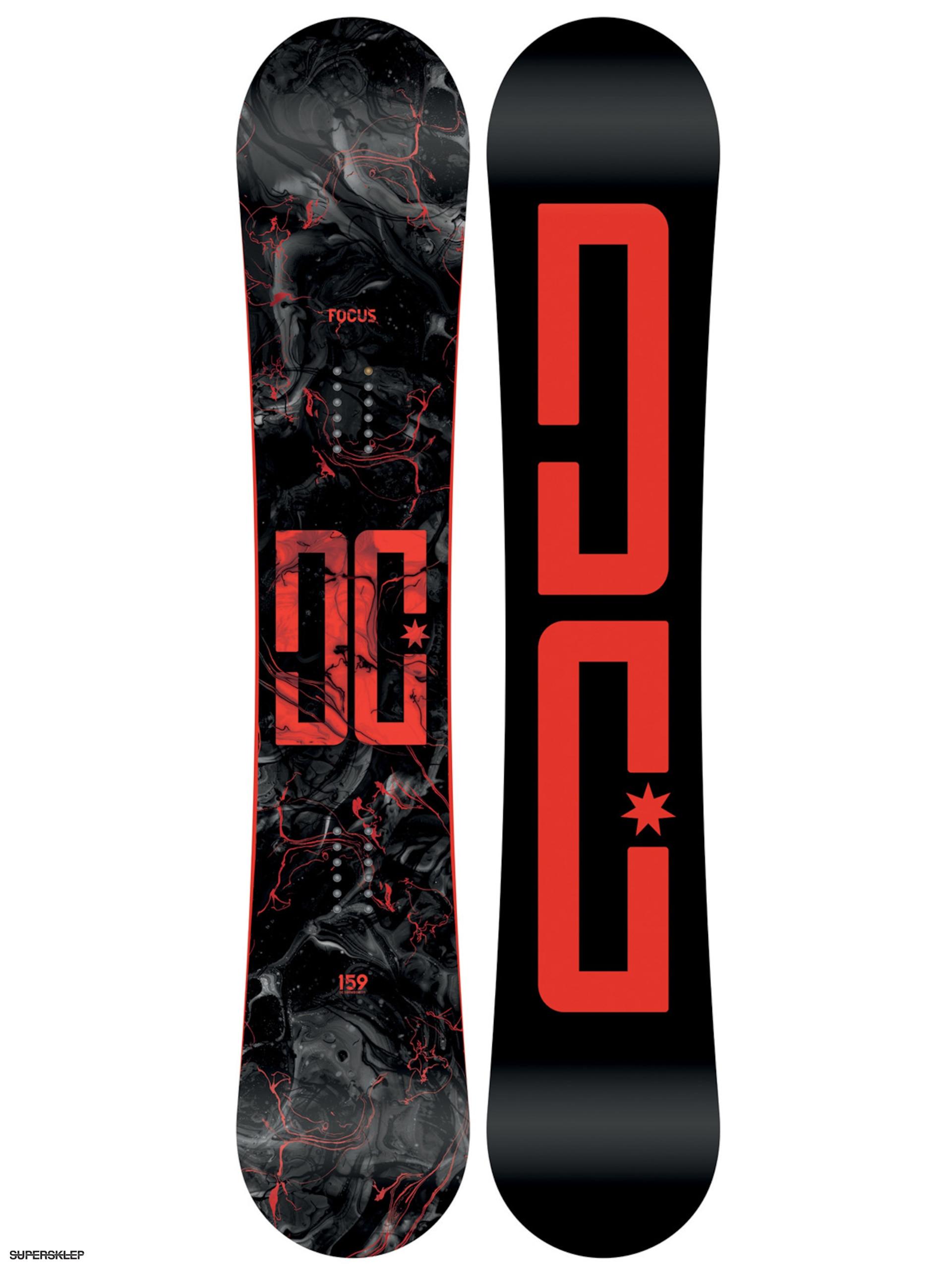 f4c4bf1e87f2c Snowboard DC Focus (black/red)