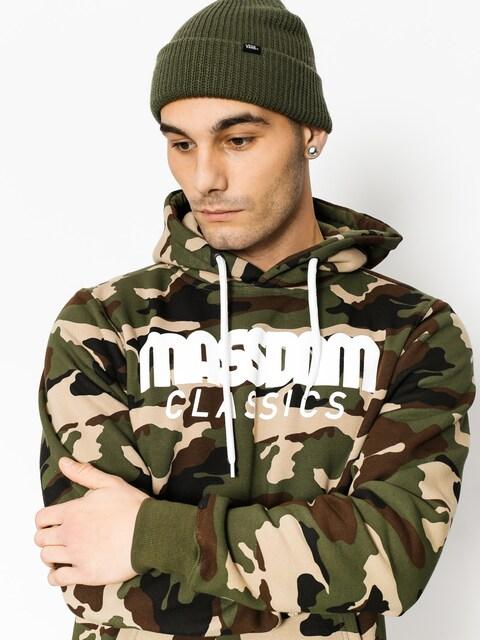 Mikina s kapucňou MassDnm Classics HD (woodland camo)