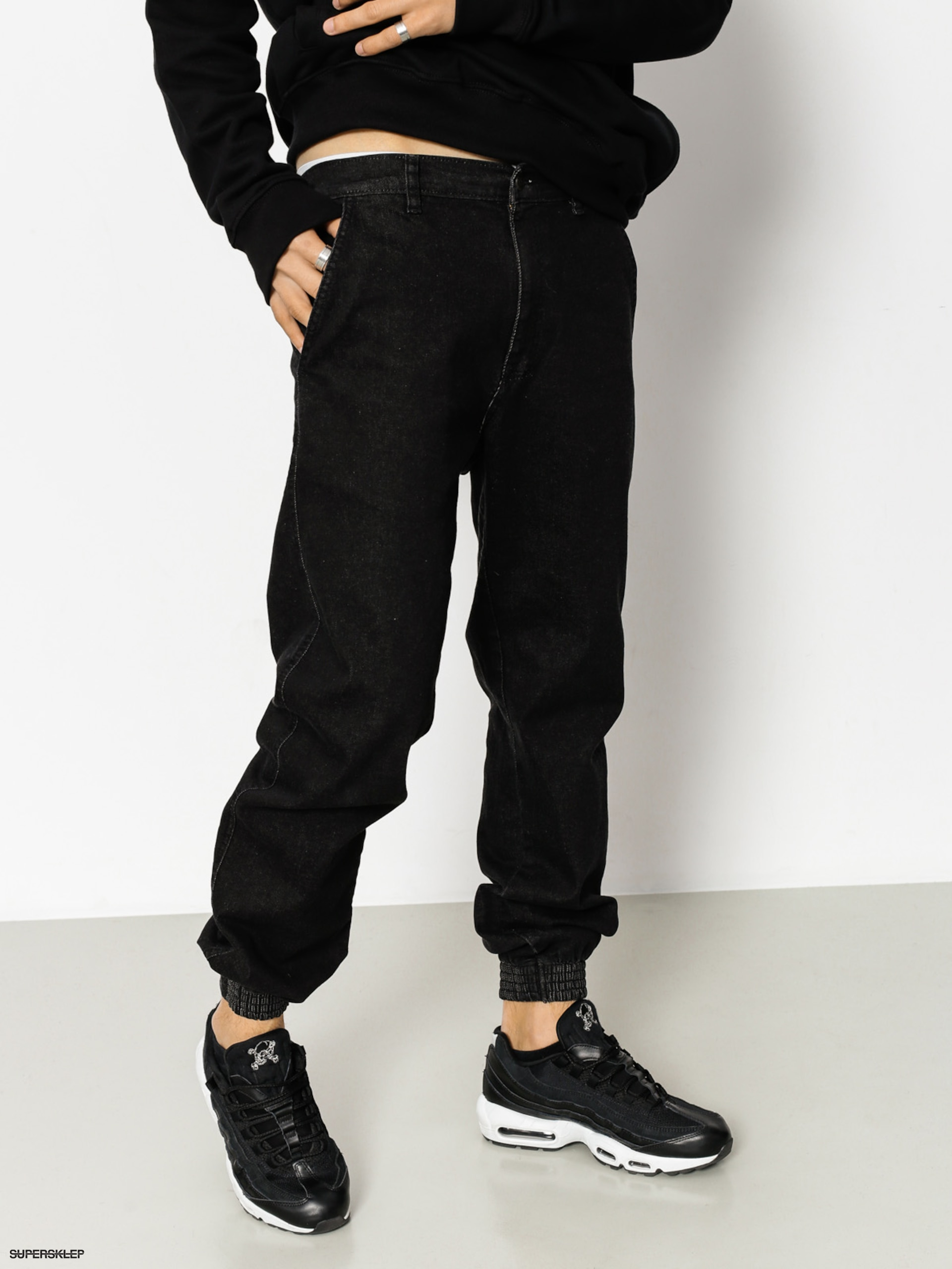 Nohavice El Polako Republic Regular Jogger (black jeans)
