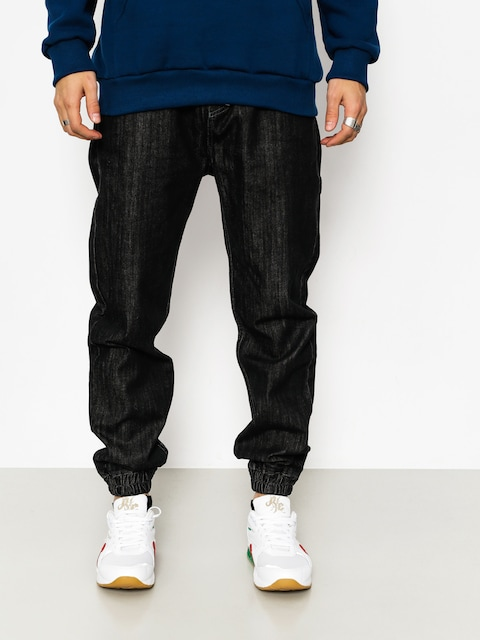 Nohavice MassDnm Signature Joggers Jeans (black rinse)