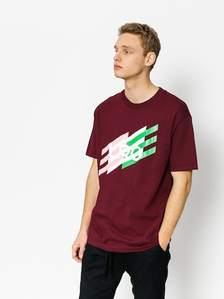 Tričko LRG Ascending Stripes (burgandy)