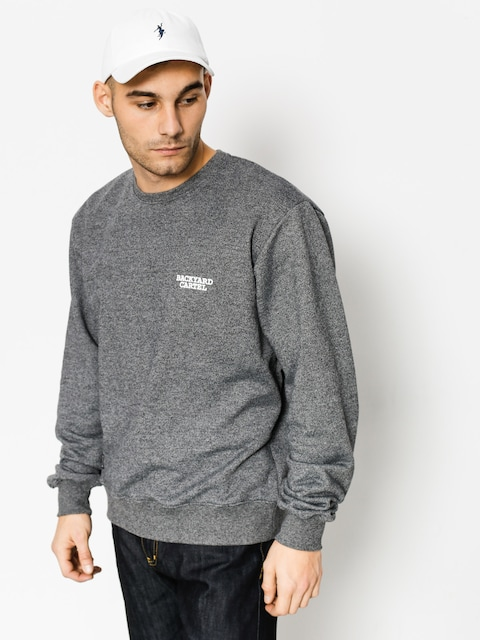 Backyard Cartel Mikina Back Label (dark heather grey)