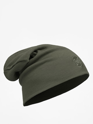 Buff Čiapka Heavyweight Merino Wool (solid forest night)