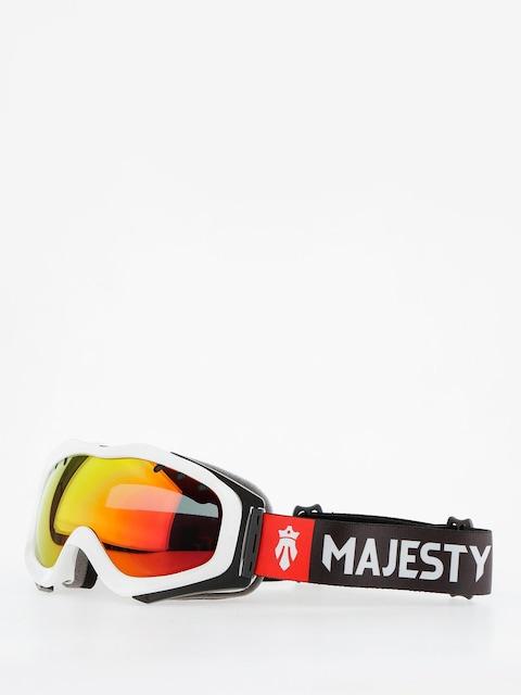 Okuliare na snowboard Majesty Patrol (glossy white/red ruby mirror/clear amber)