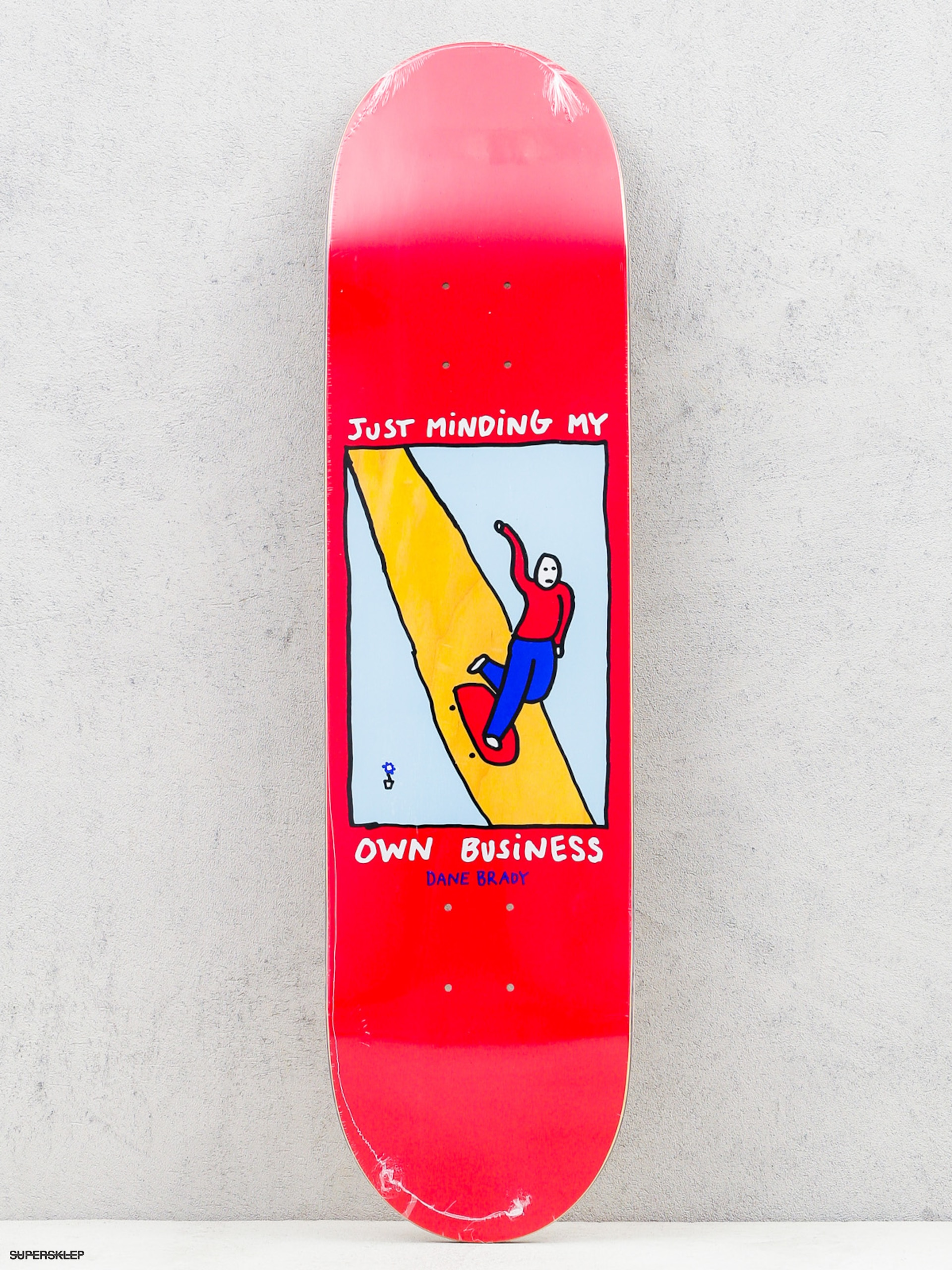 Doska Polar Skate Dane Brady Just Minding My Own Business (red/wood)