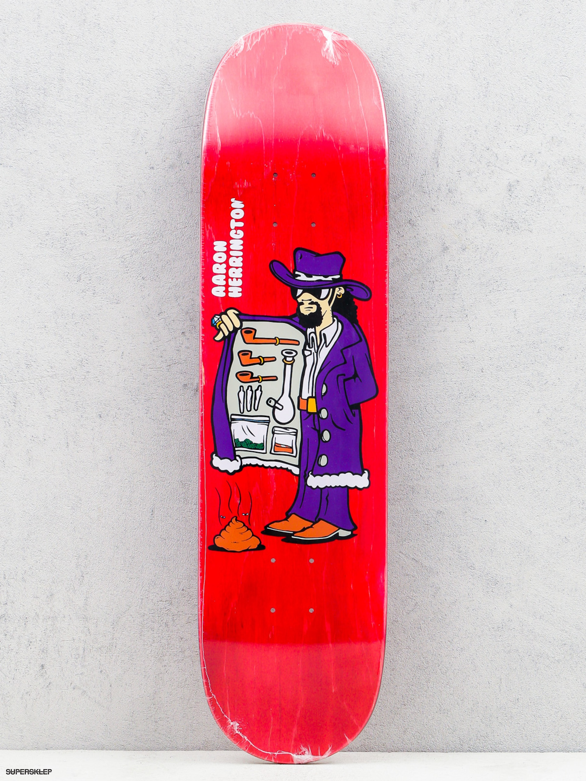 Doska Polar Skate Aaron Herrington Drug Pimp (red)