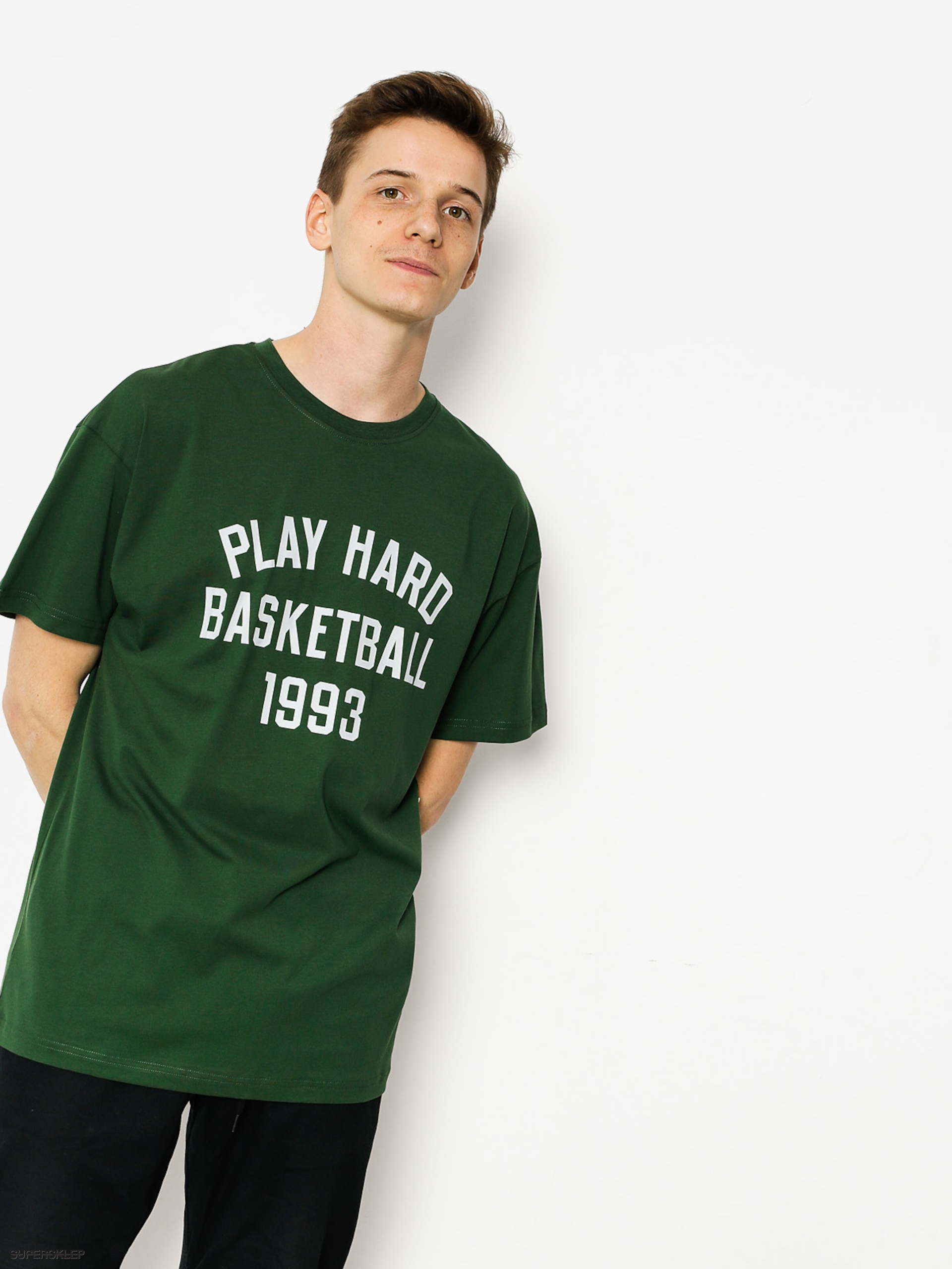 Tričko K1x Play Hard Basketball (forest green)