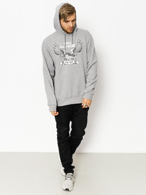 Mikina s kapucňou Circa Stay True HD (athletic grey)