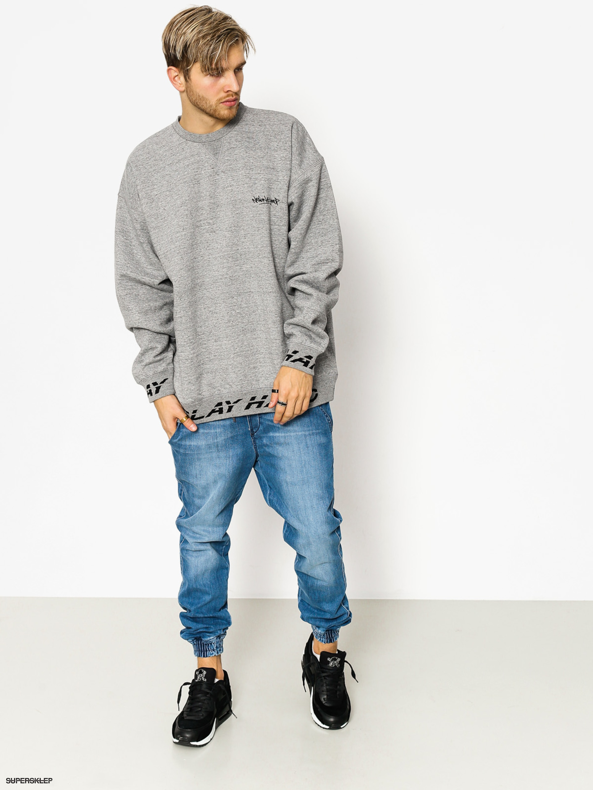 Mikina K1x Ph Crewneck (grey heather)