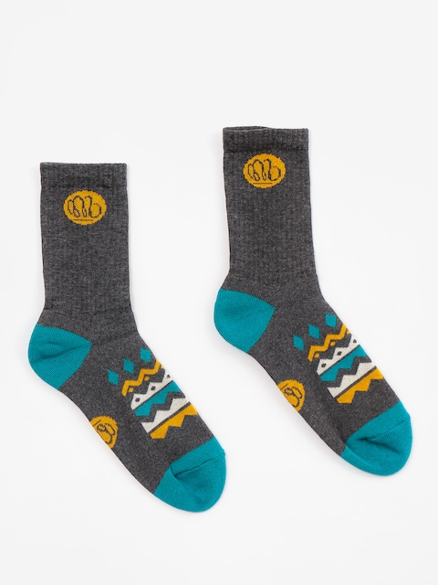 Malita Ponožky Aztek (deep grey/turquise)