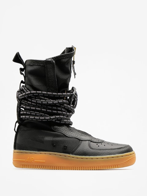 Topánky Nike Sf Air Force 1 Hi Boot Wmn (black/black gum light brown)