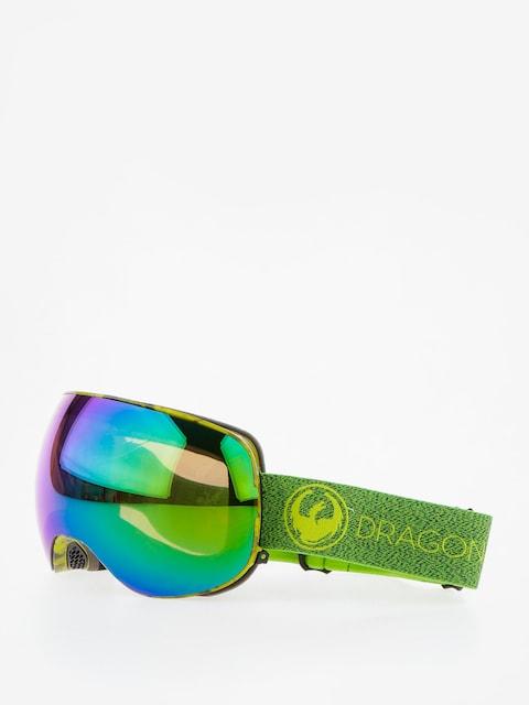 Dragon Okuliare na snowboard X2 (mill/lumalens green ion/l amber)