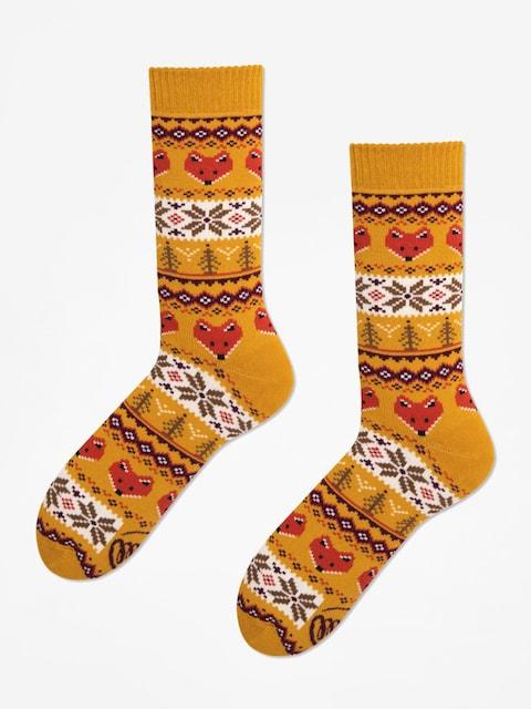 Many Mornings Ponožky Warm Fox (mustard)